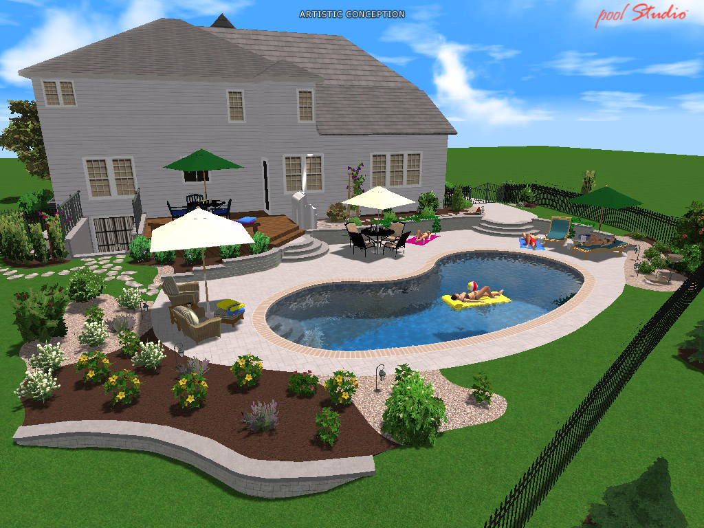 Swimming pool designers greenworks quakertown pa for Pool drawing software